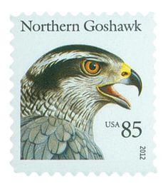 2012 85c Birds of Prey-Northern Goshawk - Scott # 4608