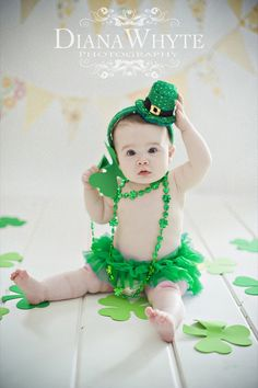 Saint Patrick's Day st patty baby girl Www.dianawhytephotography.com