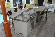 Mahopac NY outdoor kitchen island display
