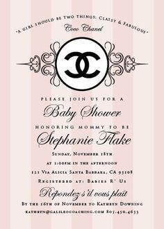 Coco Chanel Invitation Templates Google Search Sweet 16 Chanel