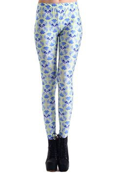 Panda Face Cross Pattern Print Leggings. Description These Leggings have been crafted from elastic fabric design, featuring panda face cross pattern design, a stretchy waist and all in a soft-touch stretch finish. Fabric Dacron and Spandex. Washing 40 degree machine wash , low iron. #Romwe