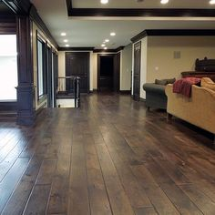 Exact colors i want (walls trim floors) Walnut Floors with black trim