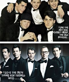 NKOTB then & now  still got it after all these years.......