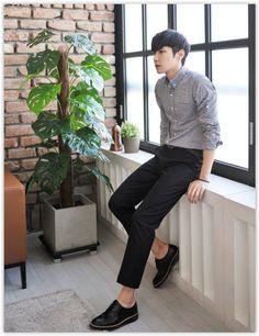 2ad58c76a6b6 MITOSHOP - Pocket-Front Graph-Check  Shirt  koreanfashion  men sstyle