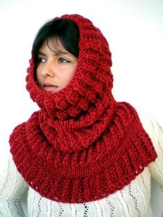 Items similar to Charcoal Pyramid Big Cowl Capelet Neckwarmer Fashion High Big Cowl NEW on Etsy Knitting Projects, Knitting Patterns, Red Pyramid, Infinity Scarfs, Spinning Yarn, Capelet, Ruby Red, Crochet Baby, Knits