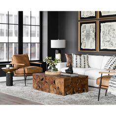 Masculine Living Rooms, Living Room Grey, Living Room Modern, Living Room Chairs, Home Living Room, Living Room Contemporary, Masculine Home Decor, Brown Leather Sofa Living Room, Contemporary Rustic Decor