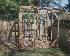 Coop - Framing the roof with reclaimed 2x4s
