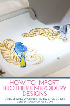 Everything you need to know and a complete guide of how to import Brother embroidery designs from your computer straight to your embroidery machine. Brother Embroidery Machine, Machine Embroidery Projects, Embroidery Software, Machine Embroidery Applique, Free Machine Embroidery Designs, Embroidery Ideas, Applique Designs, Embroidery Stitches, Embroidery Machines