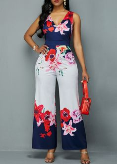 Cheap cheap jumpsuits rompers Jumpsuits & Rompers online for sale - Women's Fashion African Fashion Dresses, African Dress, Fashion Outfits, Womens Fashion, Fall Fashion, Fashion Trends, Cheap Party Dresses, Designer Party Dresses, Printed Jumpsuit
