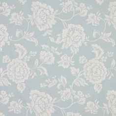 Buy John Lewis Floral Shabby Chic Fabric, Duck Egg online at JohnLewis.com -  Curtain Material