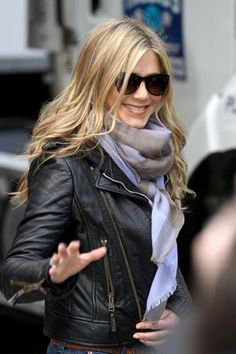 leather jacket, and the hair!!!
