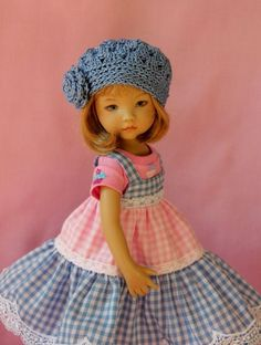 "Cupcake & Gingham OOAK Ensemble for Effner 13"" Little Darling ~ by Gloria"