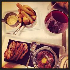 Yucca fries, tartare and red vino- Del Campo, Washington, D.C.