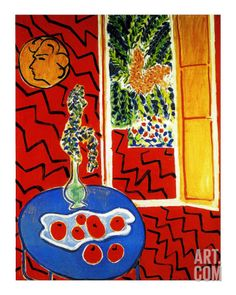 Red Interior Giclee Print by Henri Matisse at Art.com