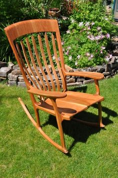 Handcrafted Cherry Rocking Chair