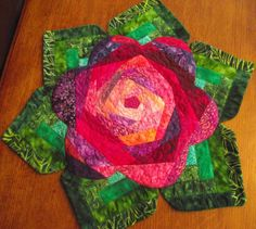 EXCLUSIVE Fabulous Flower Quilted Table Topper by Sweet Tooth Quilts