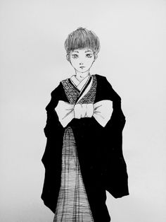 YUKIO. Concept art. He is 21 y.o and works as an assistant of a fashion magazine editor. He wants to design clothes one day. His boss tells him he should model instead and puts him in clothes like these!