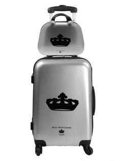 Set Rue Princesse valise rigide et vanity Nathalia Silver 79€ au lieu 99€ (Prix boutique 299€)