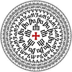 Glagolitic alphabet circle