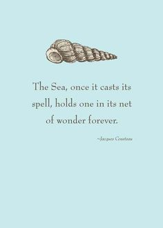 """The sea, once it casts its spell, holds one in its net of wonder forever."" #moana #disney #disneyquotes #moviequotes #quote"