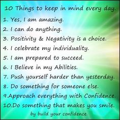 power of positive thinking / mindfulness / build your confidence #inspiration