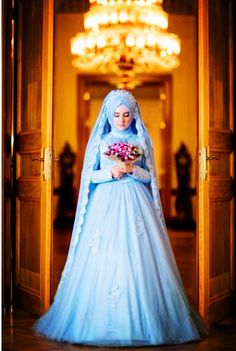 Beautiful muslim wedding dress.Find more hijab and muslim wedding dress with muslimtourtravel.com in China