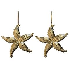 For Sale on - Starfish Gold Earrings, The Ocean series. Summer or winter depending where you live, for the beach lovers. Inspired from sea creatures, with their Diamond Dangle Earrings, Antique Earrings, Earings Gold, Golden Rutilated Quartz, Gold Pendant, Starfish, Pink And Gold, Dangles, Sea Creatures