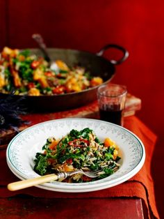 Fried Rice with Kale, Squash & Chestnuts   Rice Recipes   Jamie Oliver