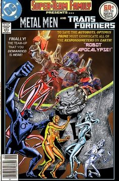 Super-Team Family: The Lost Issues!: Metal Men and Transformers