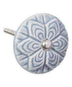Look what I found on #zulily! Grey Wheel Flower Ceramic Knobs - Set of Four #zulilyfinds
