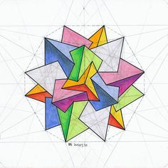 #tetredi #solid #polyhedra #geometry #symmetry #Escher #platonic #handmade #pentagon #mathart #regolo54