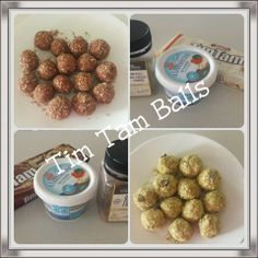 YIAH tim tam balls - mix 1 pkt crushed tim tams (flavour of your choice) with 125g cream cheese. Roll into balls and coat in flavoured dukkah.