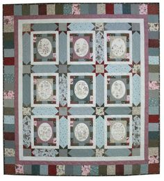 Lynnette Anderson - comforts of home. Lynette Anderson, Block Of The Month, Home Comforts, Baby Quilts, Quilt Blocks, Embroidery Patterns, Diy Crafts, Wall Art, Holiday Decor