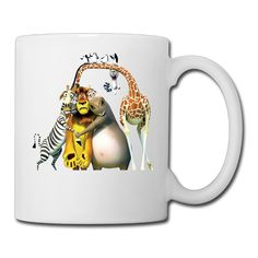 Cool Madagascar Ceramic Coffee Mug, Tea Cup | Best Gift For Men, Women And Kids - 13.5 Oz, White * Startling review available here  : Coffee Cups and Mugs