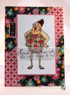 Art Impressions Rubber Stamps: Selma ~ by Sherry Eckblad
