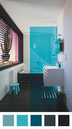 1000 id es sur le th me salle de bains turquoise sur for Salle de bain noir et turquoise