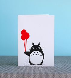 Totoro Silhouette Cut Out Birthday/Greeting/Invitation Card…