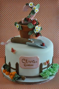 Cakes That'll Make You Hoppy: 5 Top Novelty Cake Design Ideas for Spring Garden Cake by Blue Cupcake Big Cakes, Fancy Cakes, Cupcakes, Cupcake Cakes, 75 Birthday Cake, Garden Cakes, Cake Decorating Supplies, Novelty Cakes, Dessert