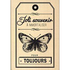 Tampon bois - Envolée de Douceur - Souvenirs pour toujours  - 9,2 x 5,5 cm