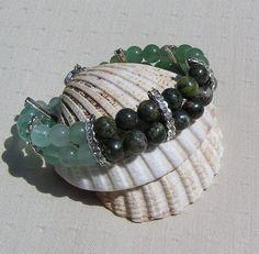 Gemstone Crystal Bracelet Fluorite Green