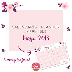 Calendario + planner de mayo♥ Mayo, Arts And Crafts, Words, Calendar, Printables, Cooking, Art And Craft, Craft