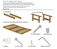 Embly For Tri Fold Futon Frame With Arms