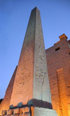 red granite Obelisk - Luxor Temple - Egypt