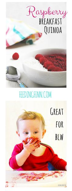 `This breakfast quinoa is great for baby-led weaning (blw) or for traditional weaned babies. My 8 nth and 3yr old both loved it. Really quick to make too.