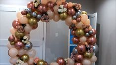 Diy- Round balloon Arch - New Deko Sites Balloon Arch Diy, Ballon Arch, Balloon Frame, Balloon Backdrop, Balloon Garland, Birthday Balloon Decorations, Baby Shower Decorations For Boys, Diy Wedding Decorations, Birthday Balloons
