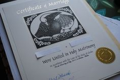 The Garter Brides answer Tulle Nation's questions and a peek at my fancy-schmancy marriage certificate.