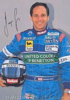 Gerhard Berger (A) F1 Motorsport, Gerhard Berger, Races Style, Nico Rosberg, Formula 1 Car, F1 Drivers, Car And Driver, Vintage Racing, One Team