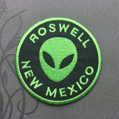 Rosewell Alien Patch UFO Patch Green Alien Iron on Patch Embroidered patch Iron on Applique  3.99 USD #patches #iron on patches