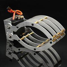 White Intelligent Half Elliptical Mechanical Gripper for RC Models Diy Robot, Bicycle Helmet, Hats, Models, Templates, Hat, Cycling Helmet, Modeling