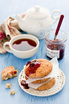 Breakfast with jam and scones | Flickr - Photo Sharing!